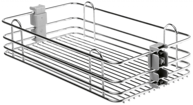 Wire Bottom Pantry Basket, Chrome Finish